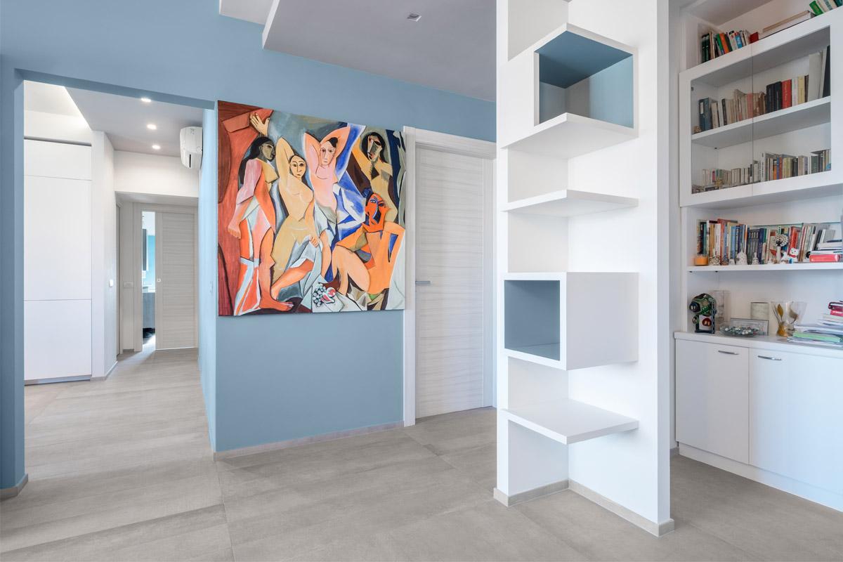 Casa Colli Anieni - 2016 - Salone - Pavimento: Prima Materia cenere by Kronos - ph Emiliano Vincenti