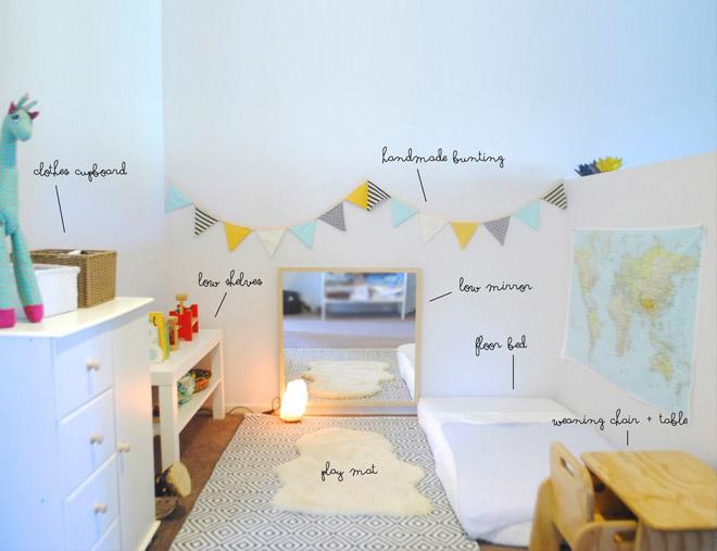 camera montessoriana per bambini
