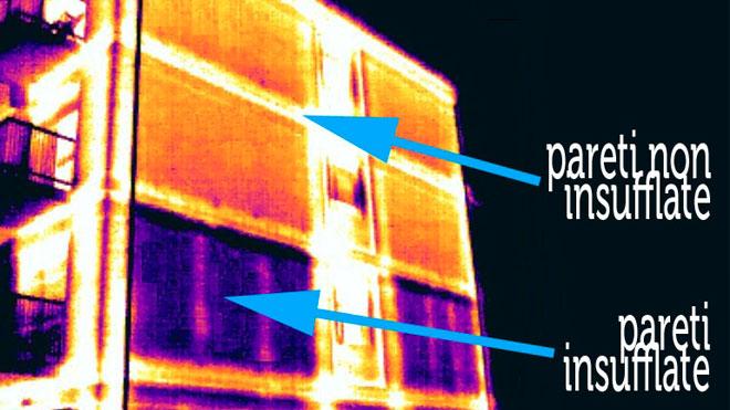 Dispersione di calore di un edifico con la termografia a infrarossi