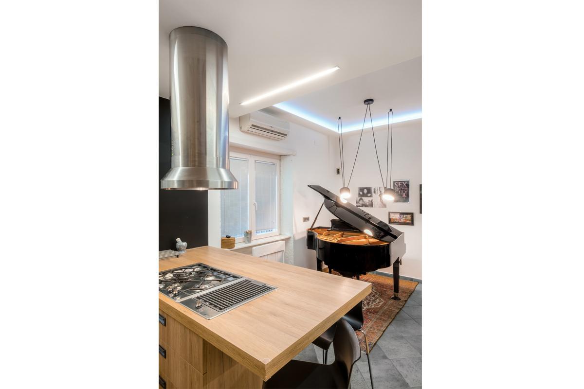 Casa del Pianista - Open space cucina e salone