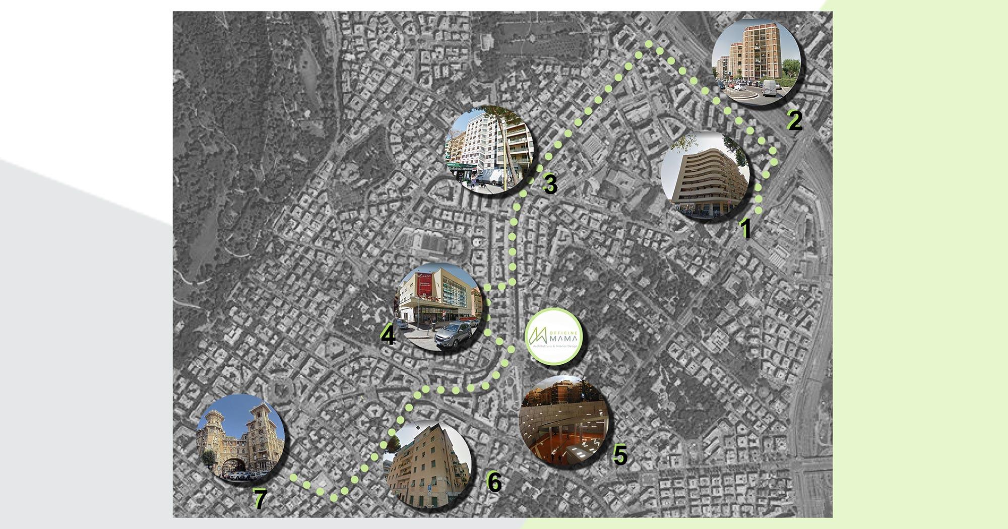 mappa del quartiere Trieste e Roma